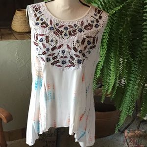 Sundance Boho Embroidered Blouse